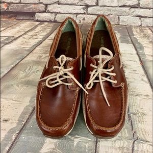 Dunham Size 10.5 2E (xwide) Brown Leather Shoes